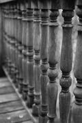 Thailand traditional wooden banister Stock Photos