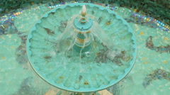 round duplex green the fountain - stock footage