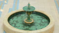 Round duplex green the fountain Stock Footage