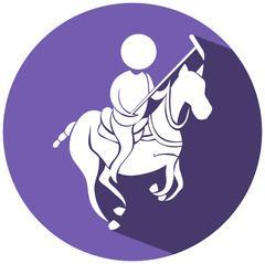 Lacrosse icon on round logo Piirros