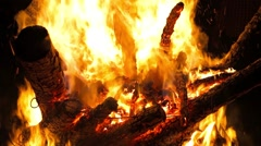 Shot of huge fire Stock Footage