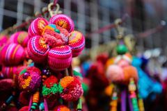 colorful handmade souvenir key chain - stock photo