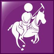 Lacrosse icon on purple background Piirros