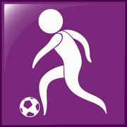 Sport icon for football on purple background Stock Illustration