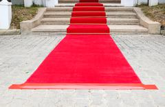 Red carpet on the ground Stock Photos