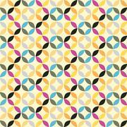 Vector Geometric Circle Pattern Background Stock Illustration