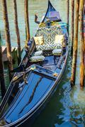 Gondola in Venice - Gondola service in the canals - stock photo