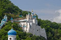 Svyatogorsk Holy Assumption orthodox Monastery Stock Photos