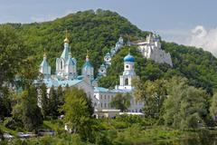 Svyatogorsk Holy Assumption orthodox Monastery - stock photo