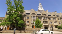 Yale Campus pan left  Stock Footage