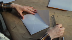 Envelope is made by hand Stock Footage