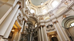 Ancient Dminican monastery and cathedral in Lviv Stock Footage