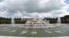 VERSAILLES CHATEAU - France. Royal residence near Paris. Stock Footage