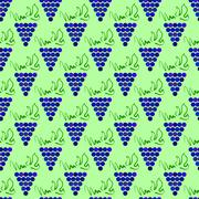 Grapes Seamless Pattern Stock Illustration