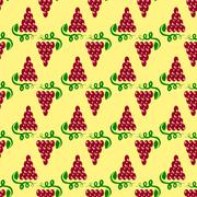 Grapes Seamless Pattern. Vine Background Stock Illustration