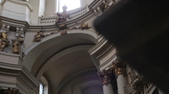 Dominican monastery and cathedral Lviv Stock Footage