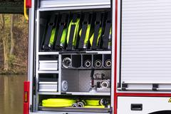 Fire safety equipment in an erase groups Vehicle Stock Photos