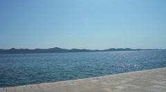 Waterfront in Zadar, Croatia - stock footage