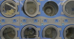 Washing linen in the laundry - stock footage