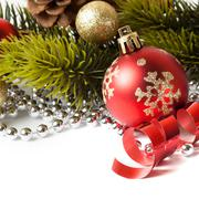 Christmas border with ornament Kuvituskuvat