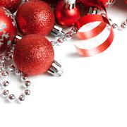Christmas border with red ornament Kuvituskuvat