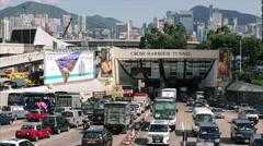 Hong Kong Traffic Timelapse Stock Footage
