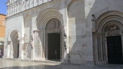 The St. Anastasia's Cathedral in Zadar, Croatia Stock Footage