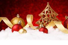 Christmas fir tree decoration Stock Photos