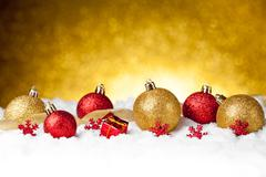 Lots of colorful Christmas Decoration baubles Stock Photos
