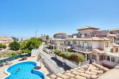 Orihuela, Spain- June 15, 2016: Apartments for tourists near the sea Stock Photos