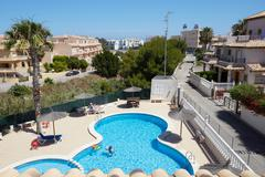 Orihuela, Spain- June 15, 2016: Apartments for tourists near the sea - stock photo