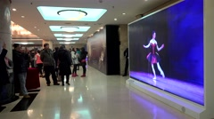 Spectators in Tianqiao Theater foyer at '2nd China International Ballet Season' - stock footage