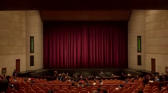 Spectators are going in the auditorium of Tianqiao Theater. Timelapse. - stock footage
