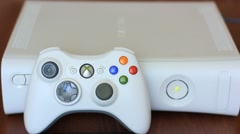 working video game console - stock footage