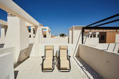 Orihuela, Spain- June 18, 2016: Apartments for tourists near the sea Stock Photos