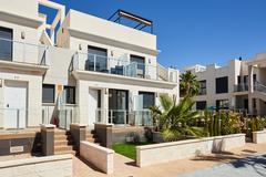 Orihuela, Spain- June 18, 2016: Apartments for tourists near the sea - stock photo