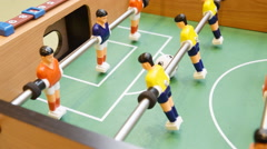 Detail of a table soccer game Stock Footage