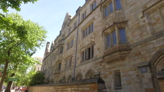 Yale Campus steady-cam shot  Stock Footage