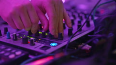 Dj playing and mixing music Stock Footage