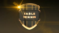 Table Tennis - Orange Stock Footage