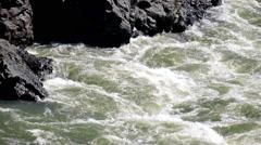 Teldykpen rapids on Altai river Katun near Oroktoi,  Russia - stock footage