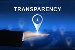 transparency button on blurred background - stock photo