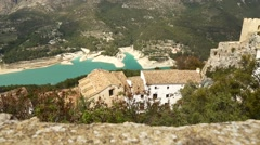 Beautiful landscape in mountain village Guadalest, Spain Stock Footage