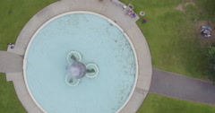 Aerial of mission bay fountain, Auckland, New Zealand Stock Footage