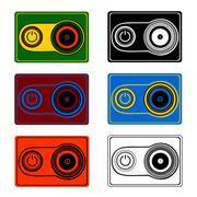 a portable video camera in vector - stock illustration