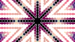 Kaleidoscope Flower Led Pannels Lights Flicker Loop Background Stock Footage