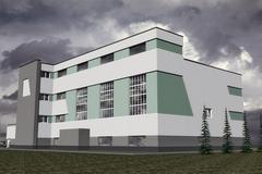 Building in the style of Constructivism Stock Illustration