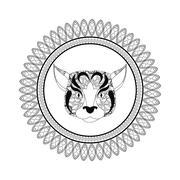 dog icon. Animal and Ornamental predator design. Vector graphic - stock illustration