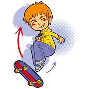 Skater Boy Stock Illustration