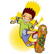 Jumping Skater Stock Illustration